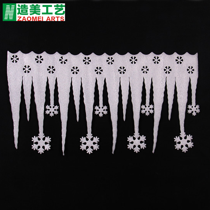 Built america christmas decorations christmas snow snowflake icicle decoration wall windows and decorative foam icicle
