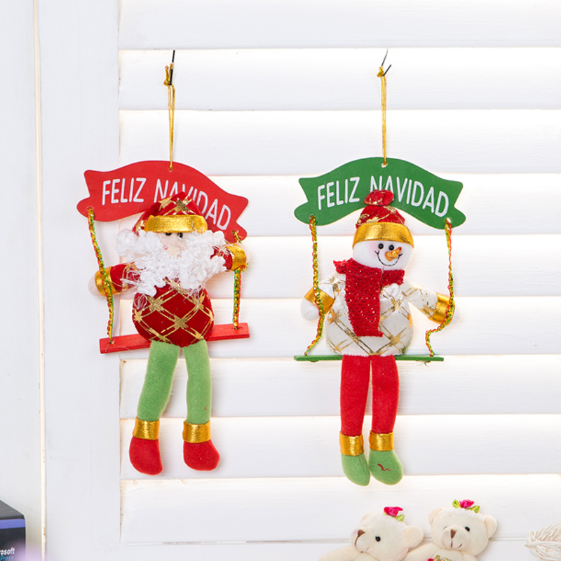 Built america swing wall studs decoration door hanging christmas decorations santa claus christmas snowman christmas gifts christmas gifts