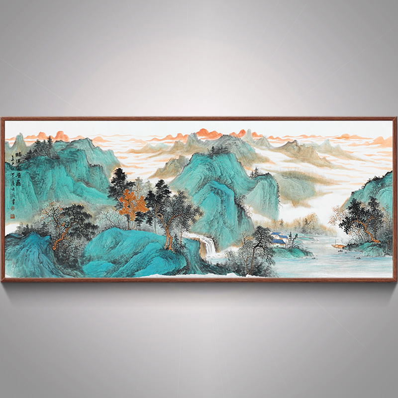 Bulgari imkye livable figure chinese calligraphy and painting the living room landscape painting landscape paintings corporate office calligraphy and painting