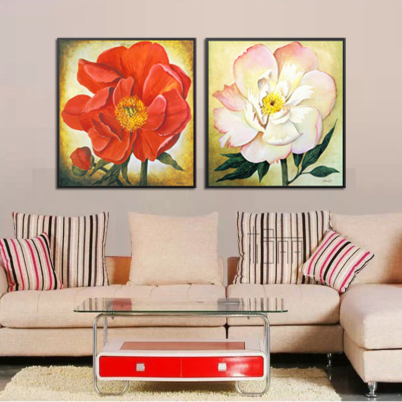 Bulgari restaurant entrance paintings meter box decorative painting flowers home living room bedroom bedside flower smiley