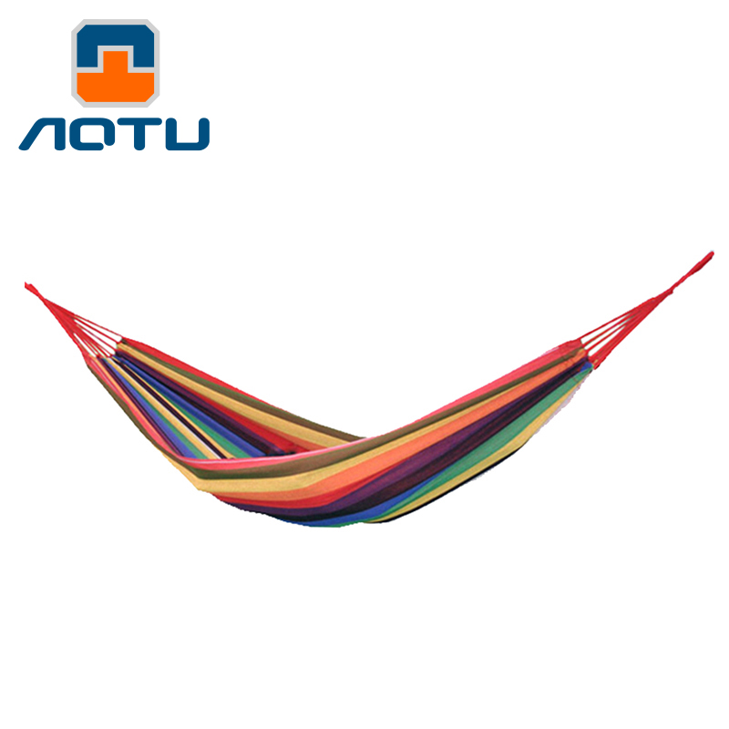 Bump outdoor widened thick canvas hammock single hammock indoor leisure park camping adult available