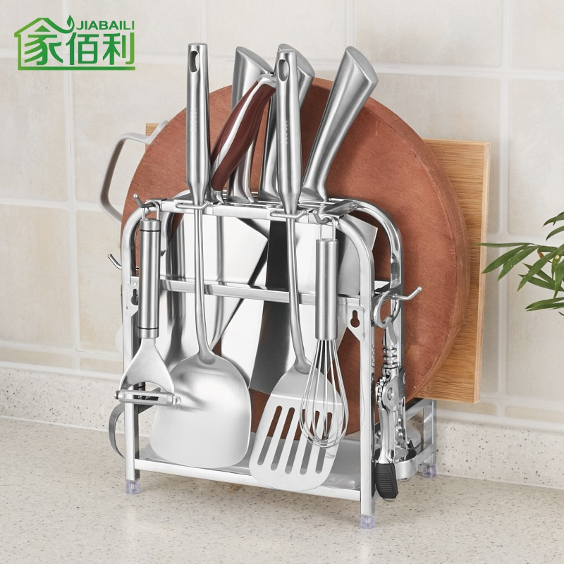 Burley home multifunction stainless steel knives kitchen knife cutting board rack rack chopping block turret racks kitchen supplies