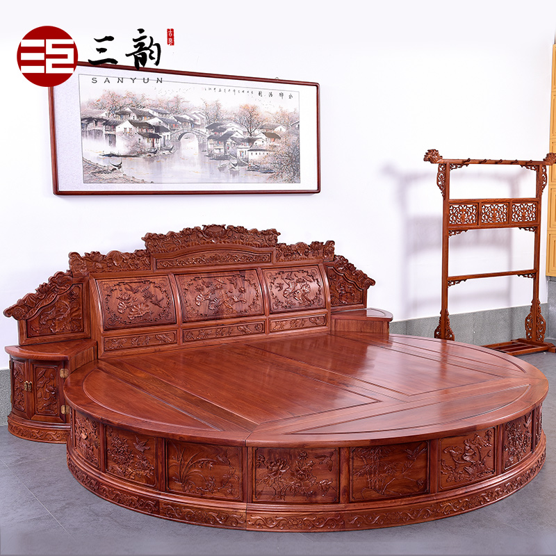 Alibaba furniture Teak Wood Get Quotations Burmese Rosewood Mahogany Double Bed Three Rhyme Chinese Classical Furniture Wood Bed Great Circle Round Bed Youtube China Round Bed Furniture China Round Bed Furniture Shopping Guide