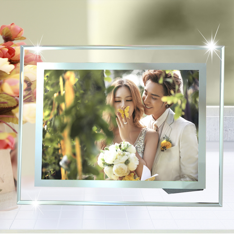 Buy 2 get 1 house full of love crystal frame swing sets 7 inch 5 inch 10a4 commendation certificate creative studio glass Picture frame
