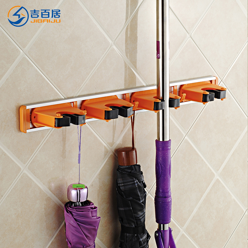 Cadbury living space aluminum broom mop rack rack rack multifunction mop mop frame broom rack to hang the removable mop rack shelf