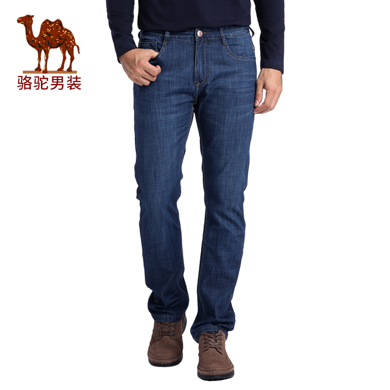 Camel/camel men's 2016 autumn new fit straight solid business casual long pants jeans men