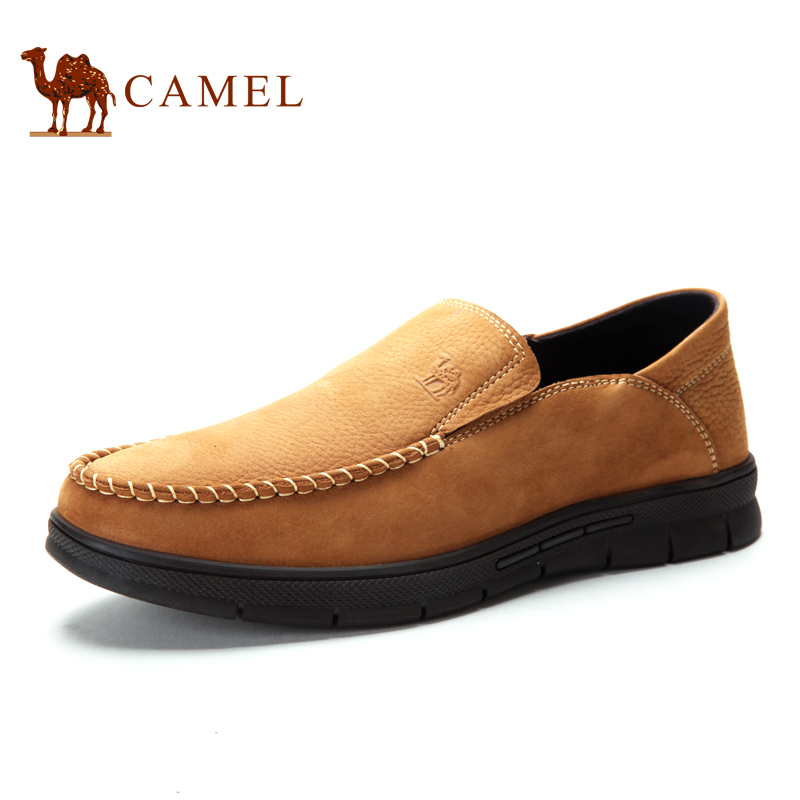 Camel camel men's fall men's casual shoes men's father's business shoes leather driving shoes set foot round head