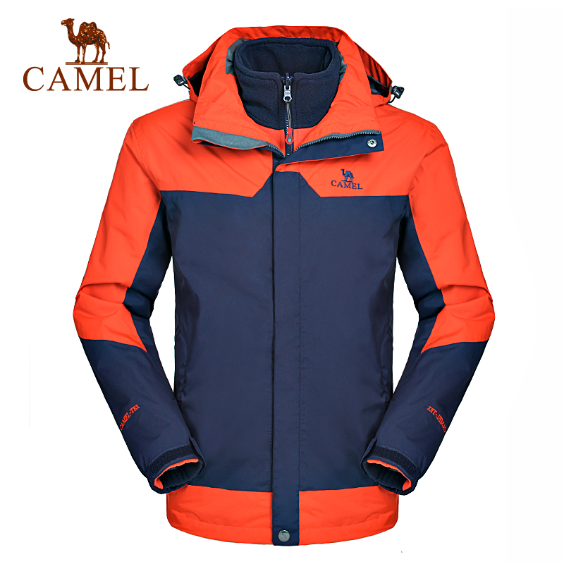 Camel camel outdoor jackets mens jackets piece triple warm waterproof windproof