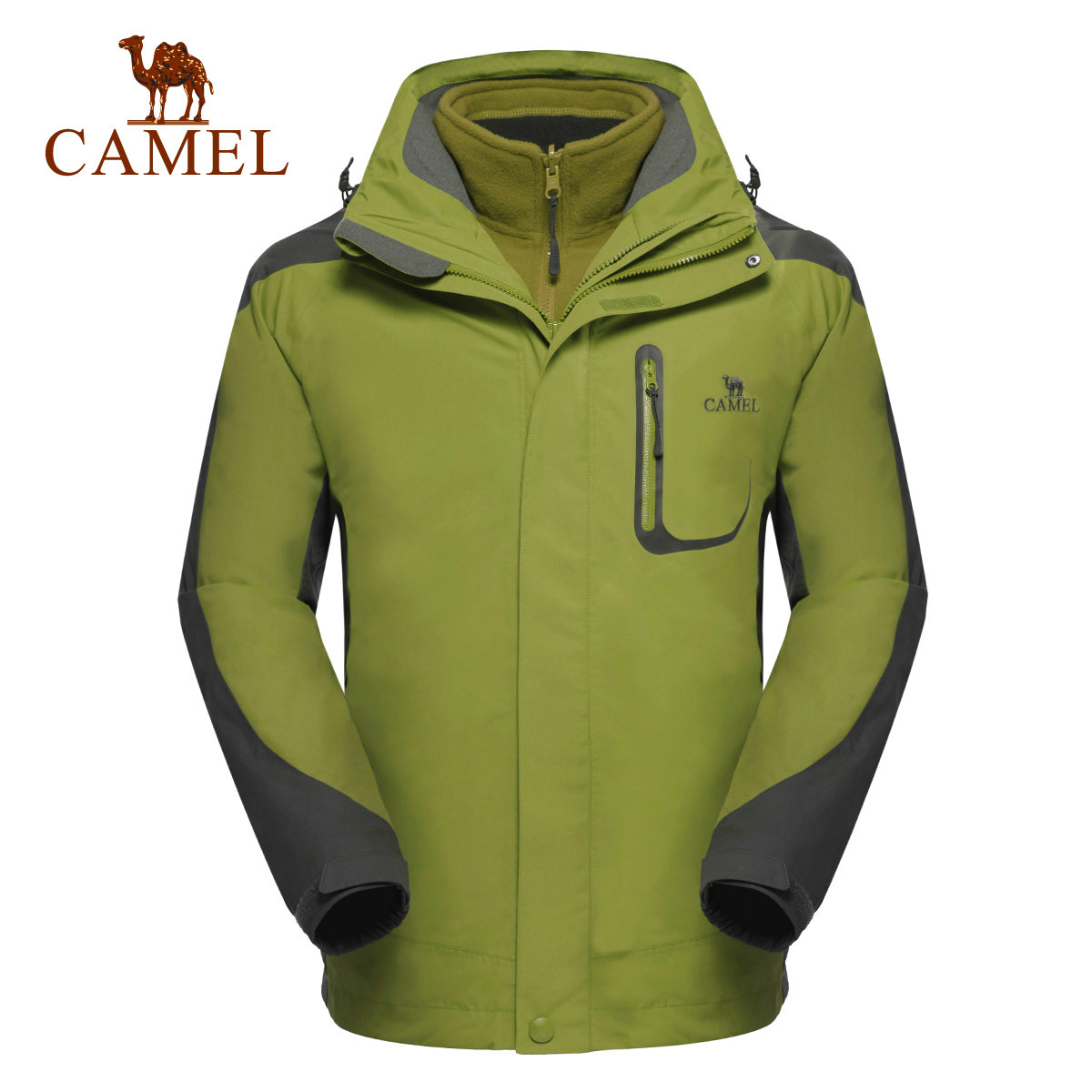 Camel camel outdoor jackets mens jackets piece waterproof windproof outdoor triple jackets
