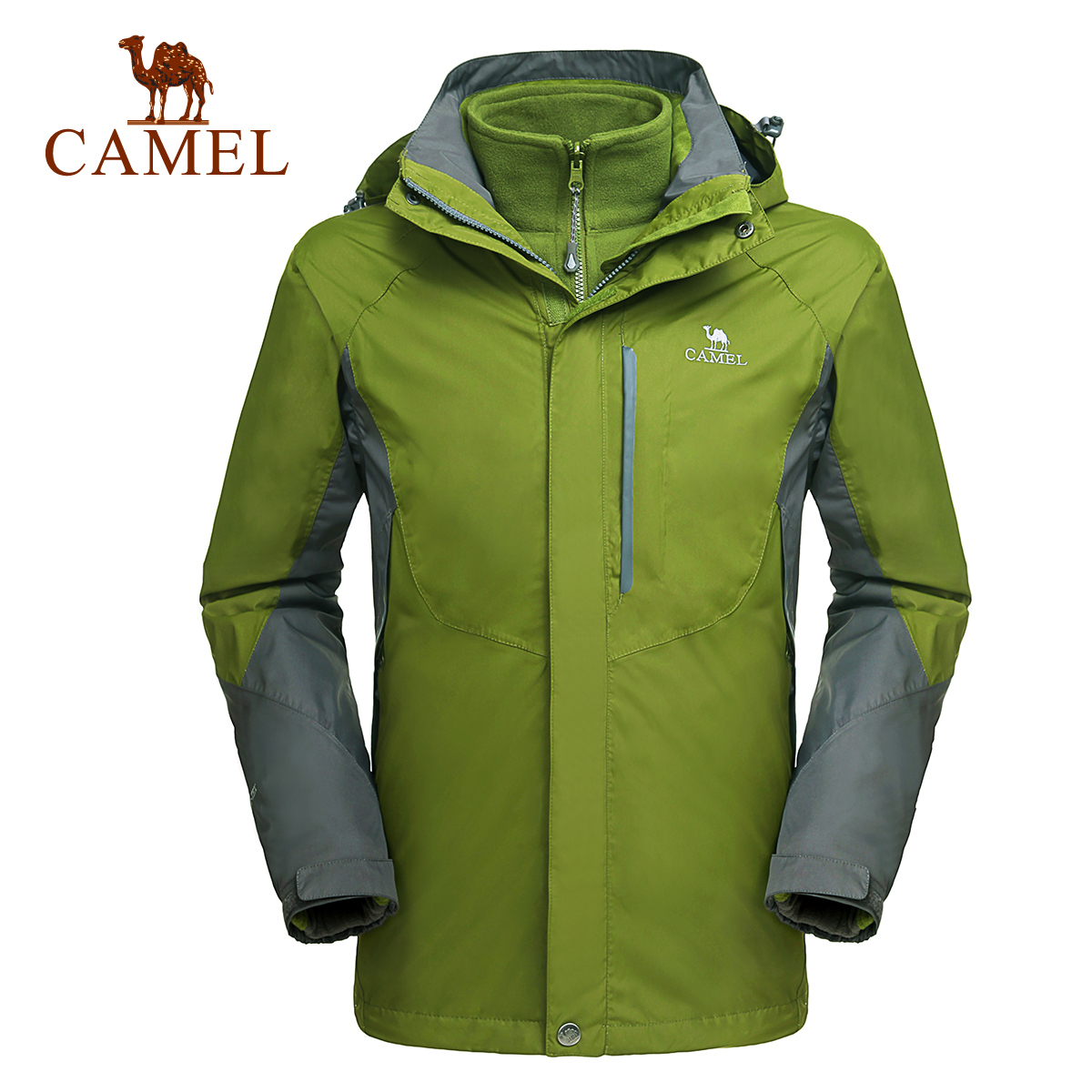 Camel camel outdoor jackets mens jackets triple warm waterproof windproof