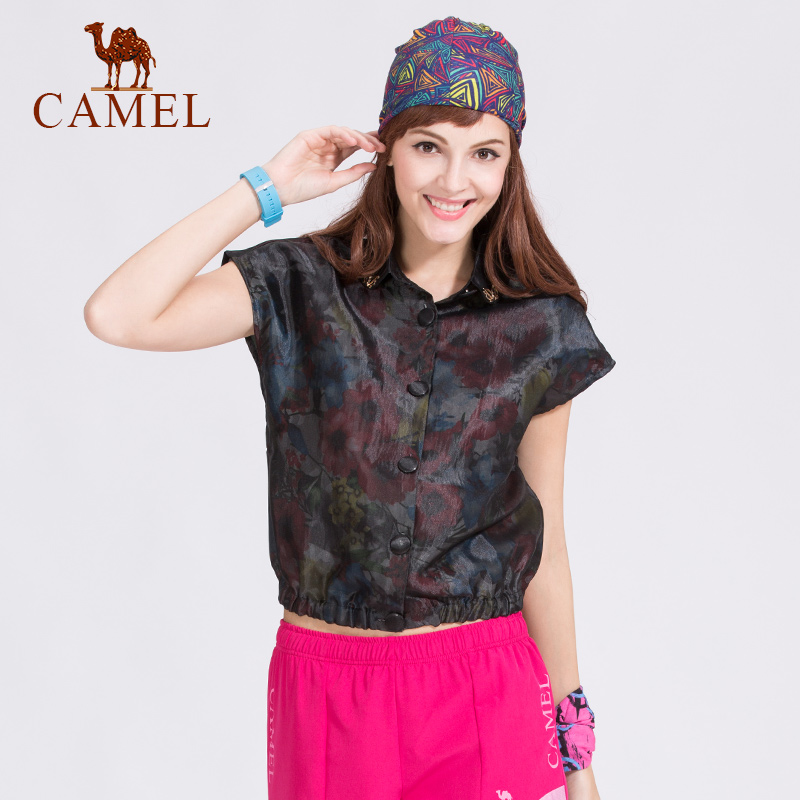 Camel camel outdoor leisure clothing lightweight breathable summer fashion printed t-shirt