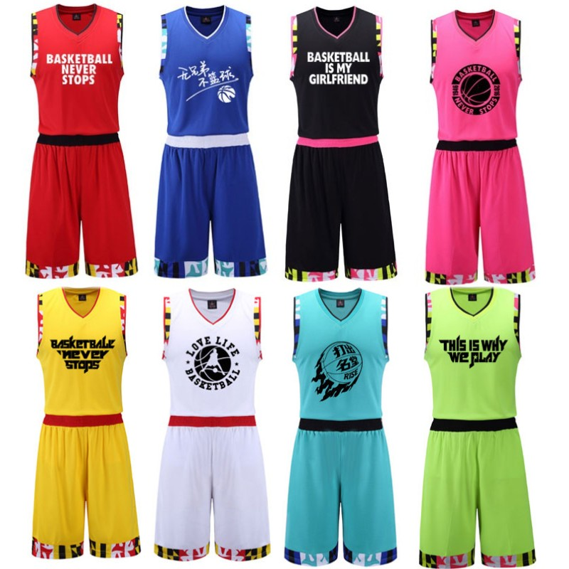 7f43689c94d Get Quotations · Camouflage basketball uniforms male summer basketball  clothing basketball jerseys customized training game jersey vest printed  numbers