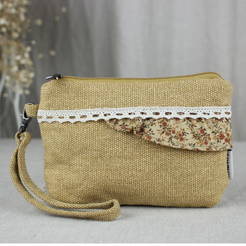 Can ailei si lace purse small cosmetic bag multi compartment debris bag phone bag hand carry a small bag 0231