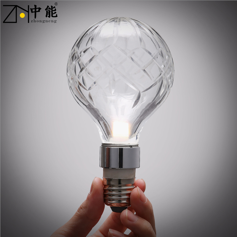 Can be 3 w light bulb energy saving lamps creative personality crystal small screw candle bulb e27 warm light led