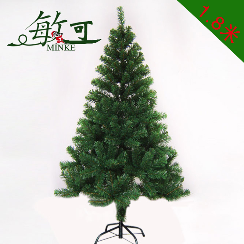 Can be sensitive 1.8 m christmas tree christmas decoration gifts christmas tree package encryption ordinary pvc green trees