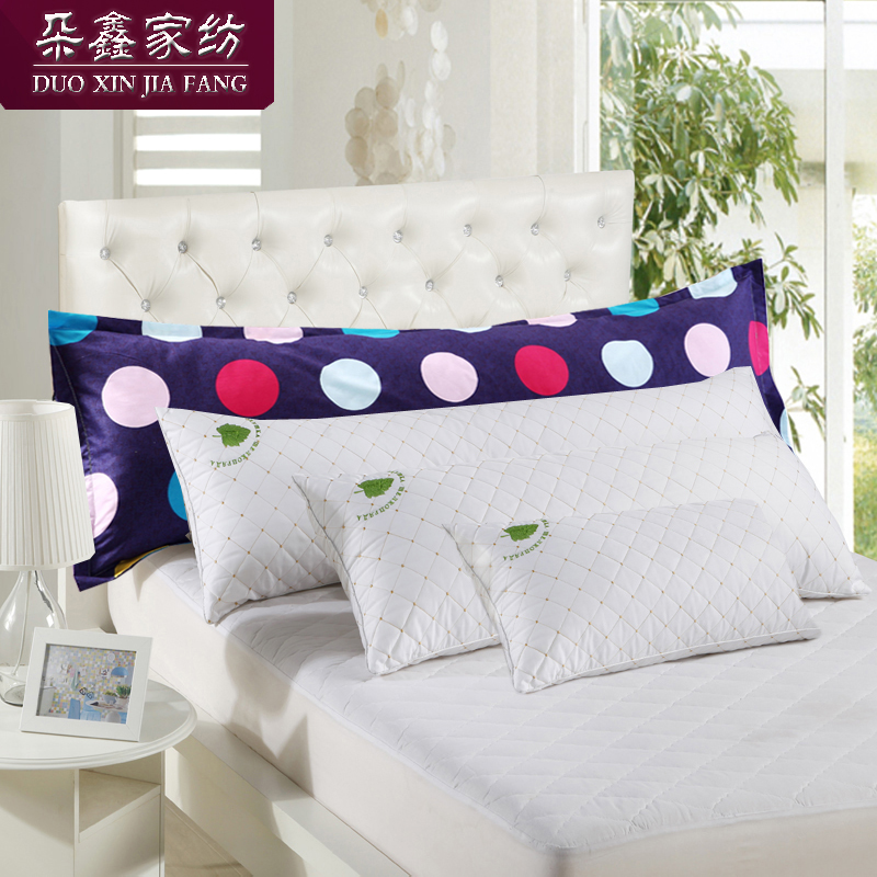 Can be washed comfortable quilted single or double pillow couple pillow 1.21.51.8 m long pillow 2 + cotton pillowcase