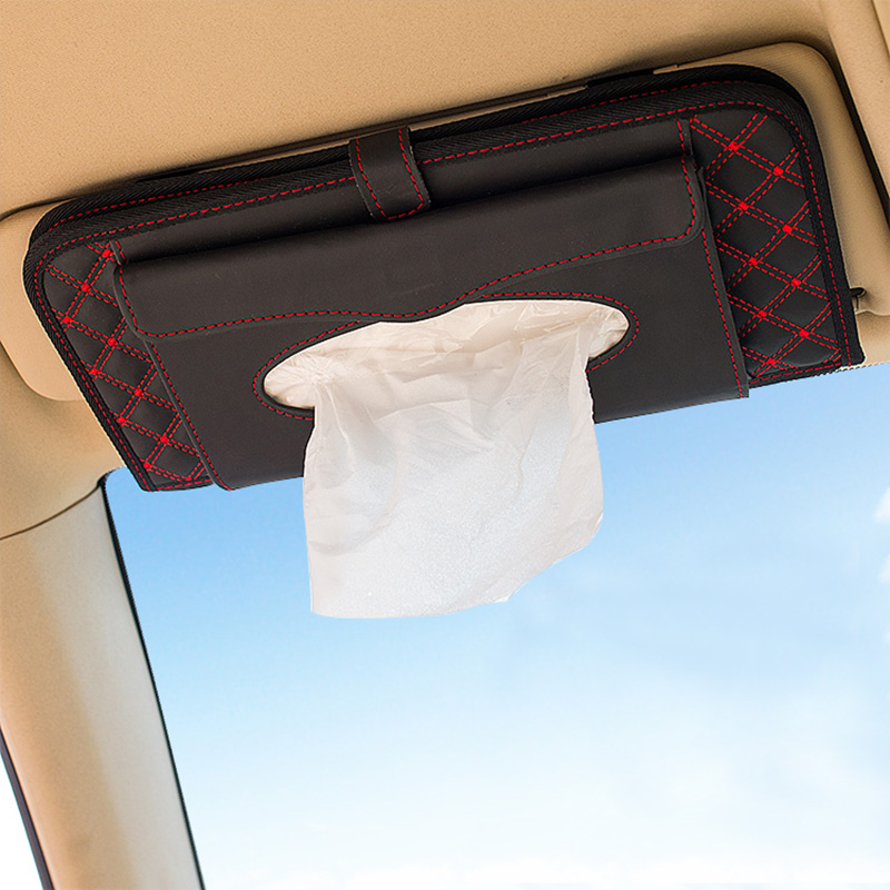 Car cd visor clip sets tissue box versatile disc folder wine visor cd sleeve cd package Cd folder