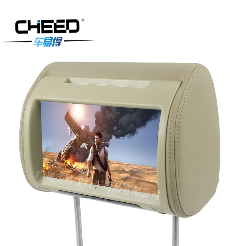 Car easy to get new sega citroen car headrest dvd monitor 9 inch high definition touch screen headrest screen