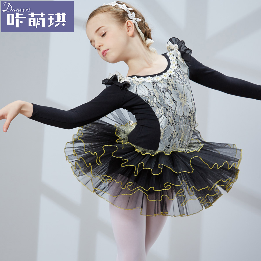 1ae39dc626cc Get Quotations · Carbazole meng qi autumn and winter children's dance  clothing girls long sleeve clothes and children's ballet