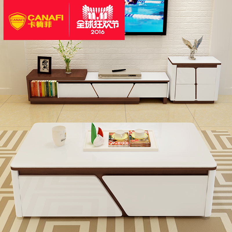 Card nan fei multifunctional storage coffee table coffee table tv cabinet modern minimalist scandinavian living room combination of creative furniture