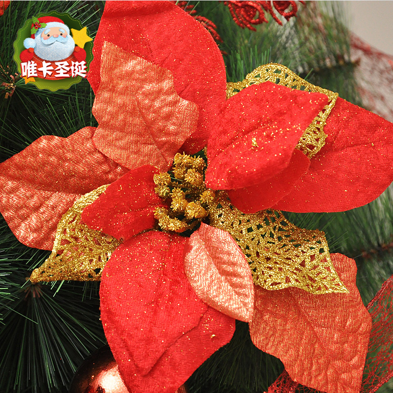 Card only 20CM wine red christmas flower christmas tree ornaments christmas decorations christmas wreath christmas wreath christmas door decorations