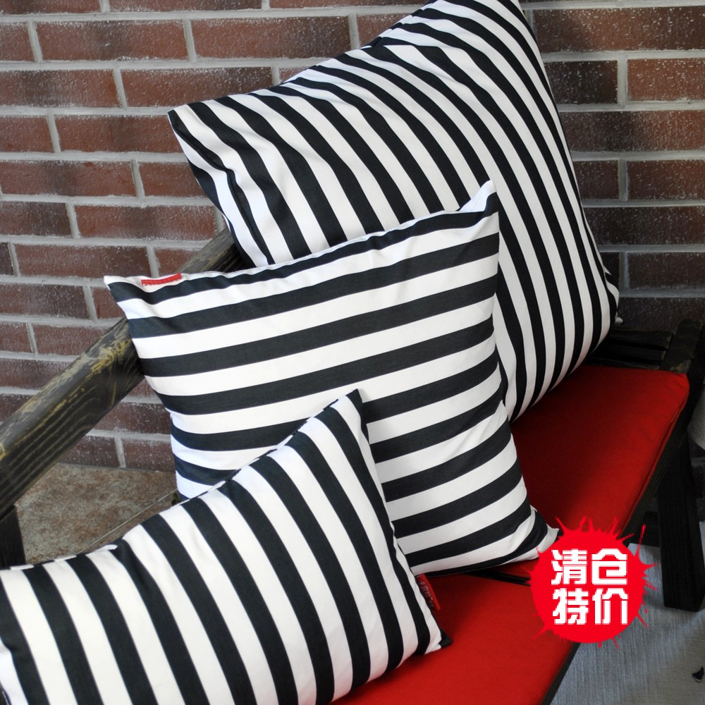 Card Should Pull Simple European Striped Pillow Cushion Covers Core  Containing Large Sofa Cushions Pillow Car