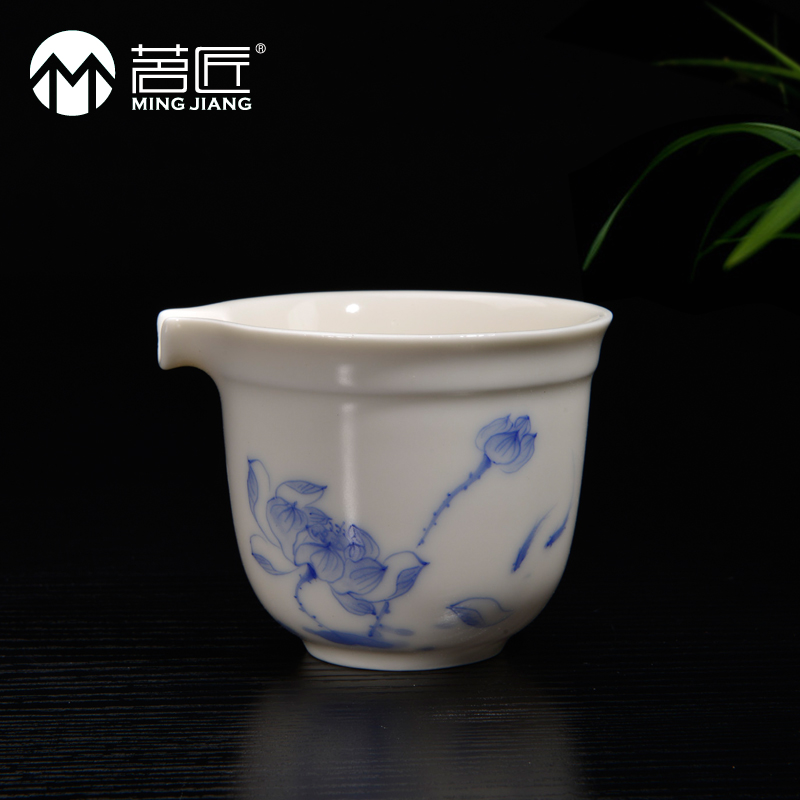 Carpenter ming ding painted ivory white porcelain japanese tea accessories handmade ceramic cups of tea tea fair sea specials