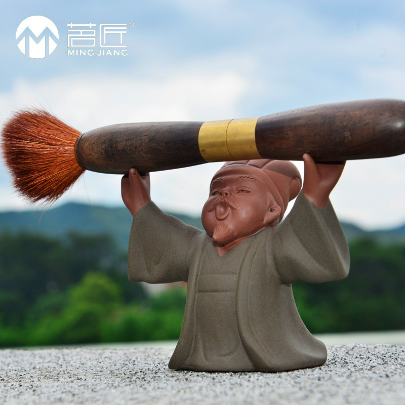 Carpenter ming kung fu tea accessories tea yixing tea pet boutique stuff haha buddha tea tea ornaments penholder toth price