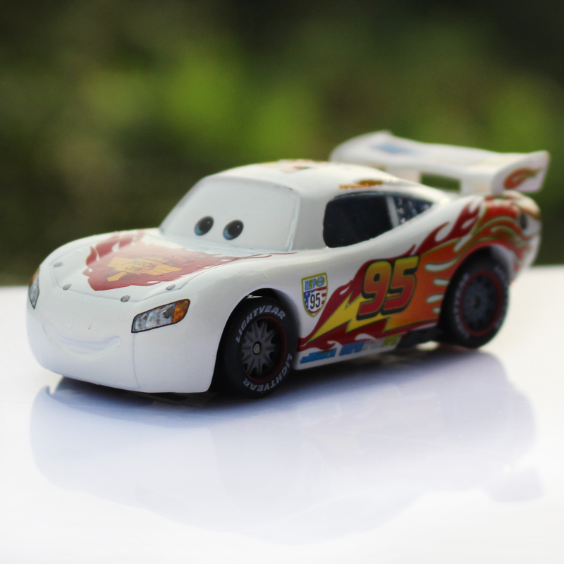 Cars alloy car model gift collection of commemorative edition white mcqueen cars toy cars for children