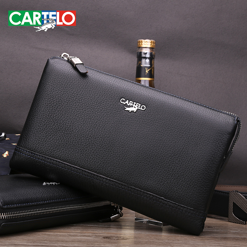 Cartelo men's handbag 2016 new genuine soft leather clutch bag business casual leather clutch clutch bag
