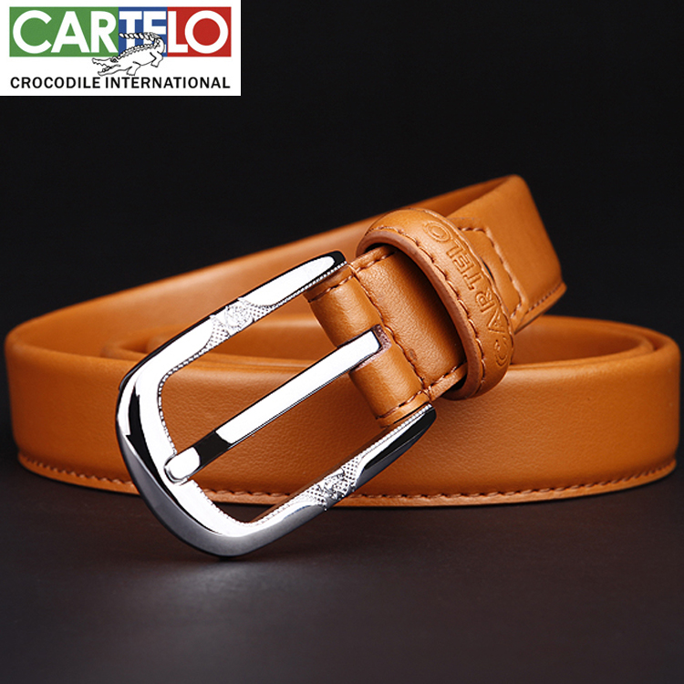 Cartelo ms. casual pants belt candy color korean fashion leather cowhide pin buckle belt free shipping