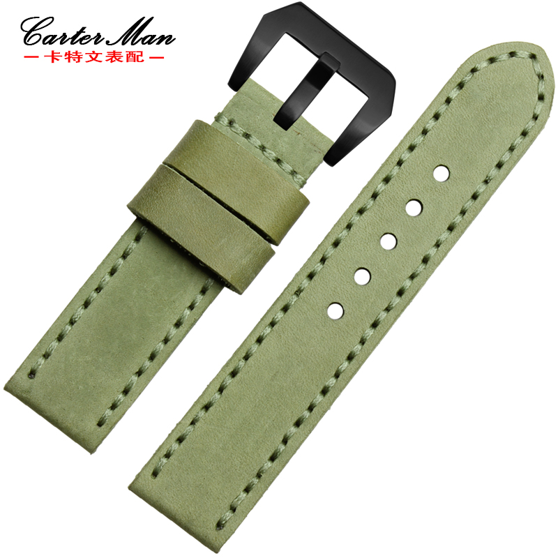 Carter man discontinuos strap handmade leather bracelet adaptation panerai | breitling watch 24mm watch accessories
