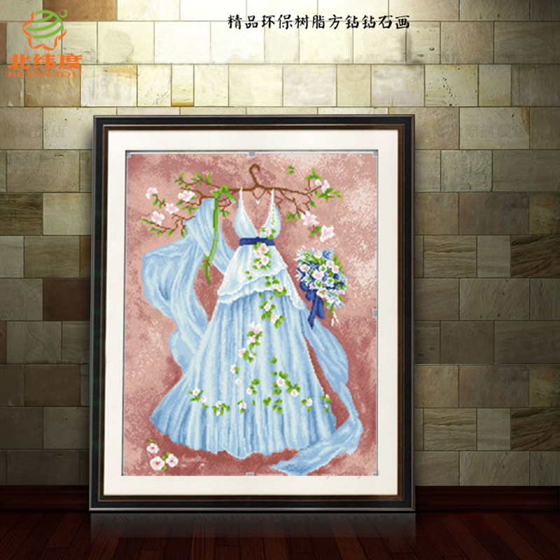 Cartoon couple series full of diamond stitch wedding series wedding dream wedding bedroom festive card through the diamond painting