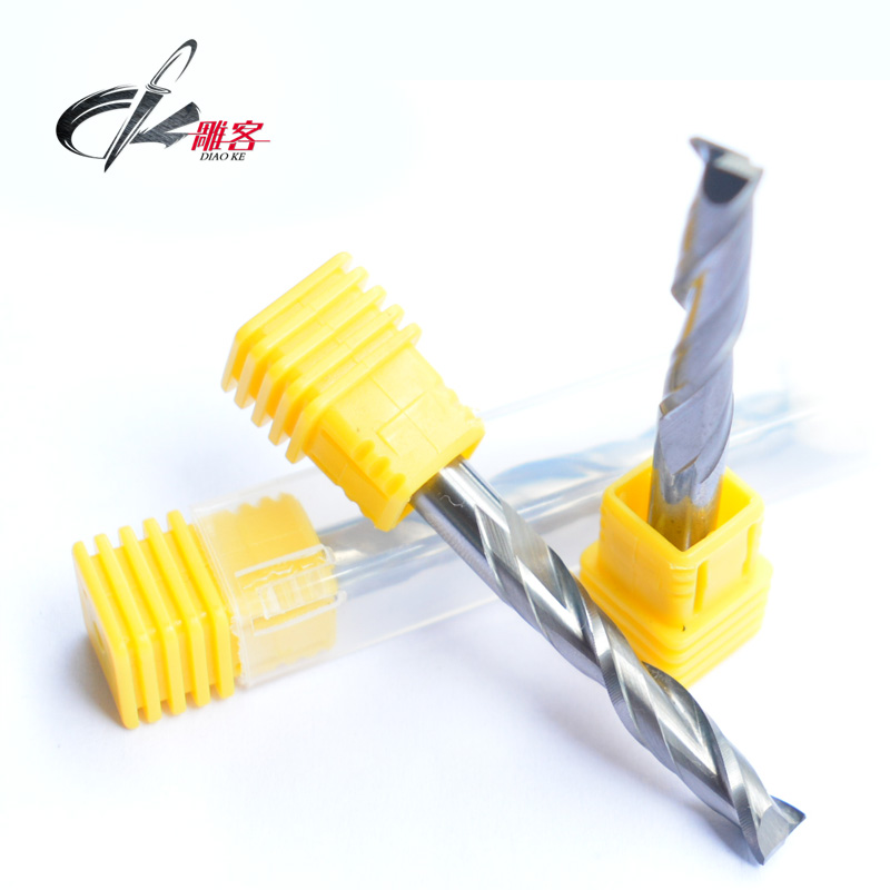 Carving off 6mm double-edged spiral cutter computer engraving tool carbide milling cutter milling cutter woodworking plaster