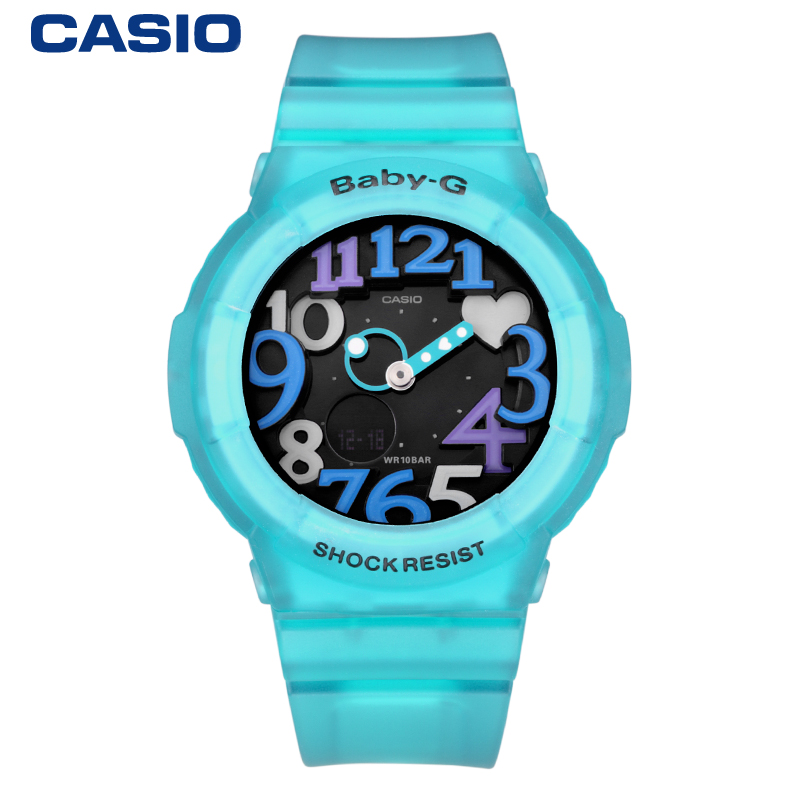 Casio casio baby-g watch movement waterproof fashion female form bga-130-1b youth colorful authentic