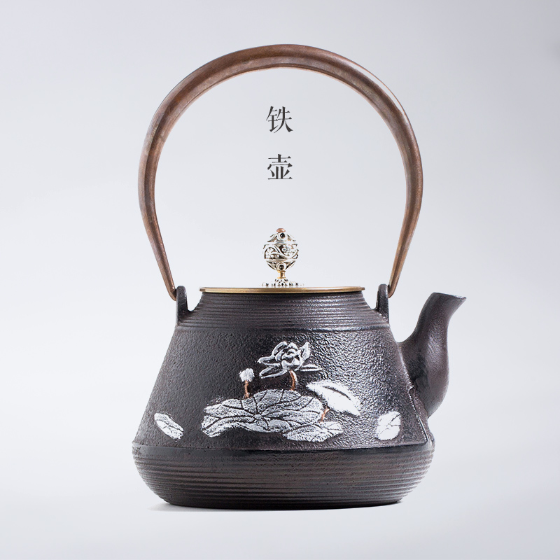 Cast iron pot uncoated iron teapot japanese handmade gift southern iron kettle old iron pot of tea cooked tea