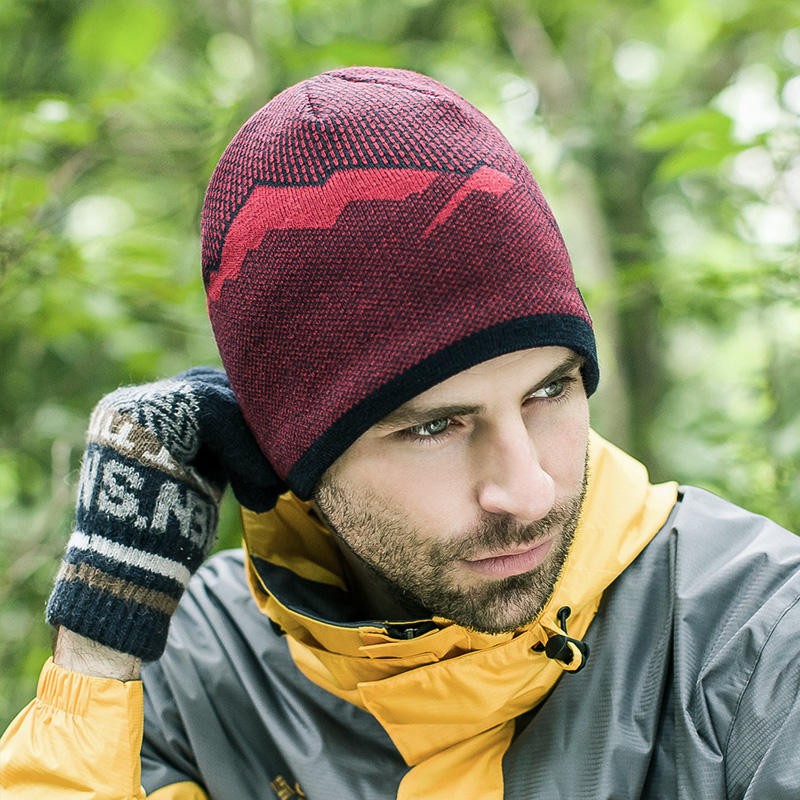 Get Quotations · Casual wool cap hat male winter outdoor windproof slip  thick warm knit hat cap baotou hedging 442a13df47bf