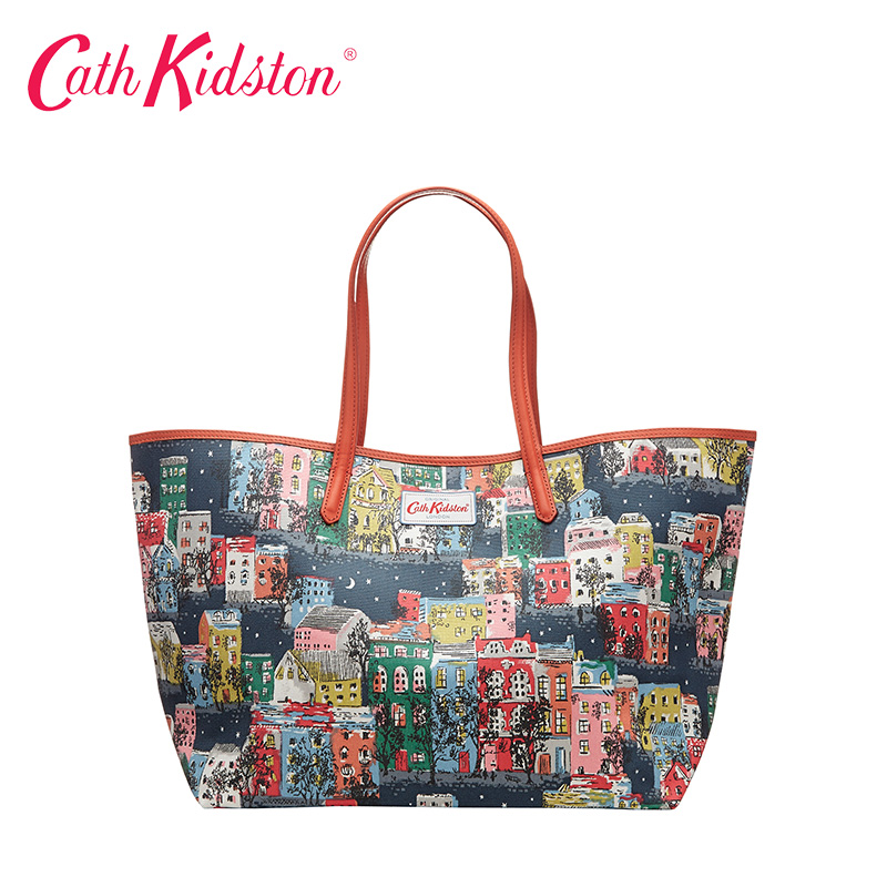 Cath kidston terraced house printing handbag shoulder bag tote bag large 443180