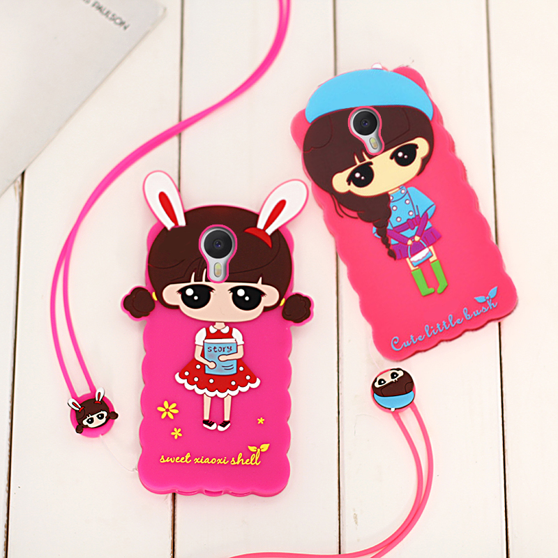Cathaysian meizuM3 kyushu 3 phone shell meizu charm blue charm blue s soft little hope protective sleeve halter rope 5.0