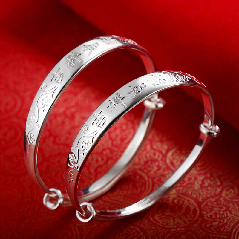 Cce national wind female baby baby silver jewelry sterling silver bracelet s990 fine silver bracelet child silver baby