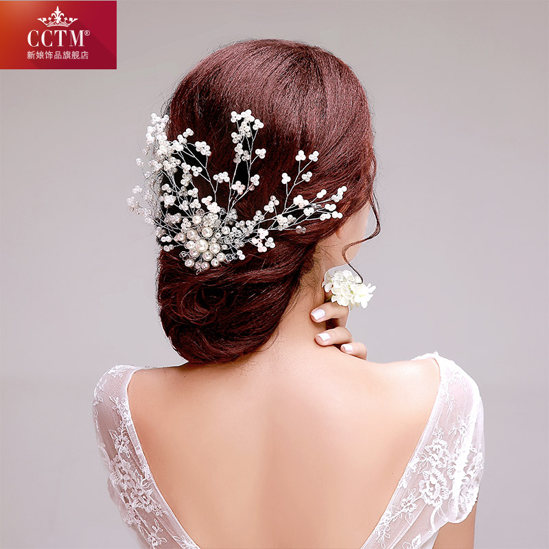 Cctm bridal flower bridal headdress korean jewelry hair accessories hair bands new mother of pearl flower jewelry wedding accessories