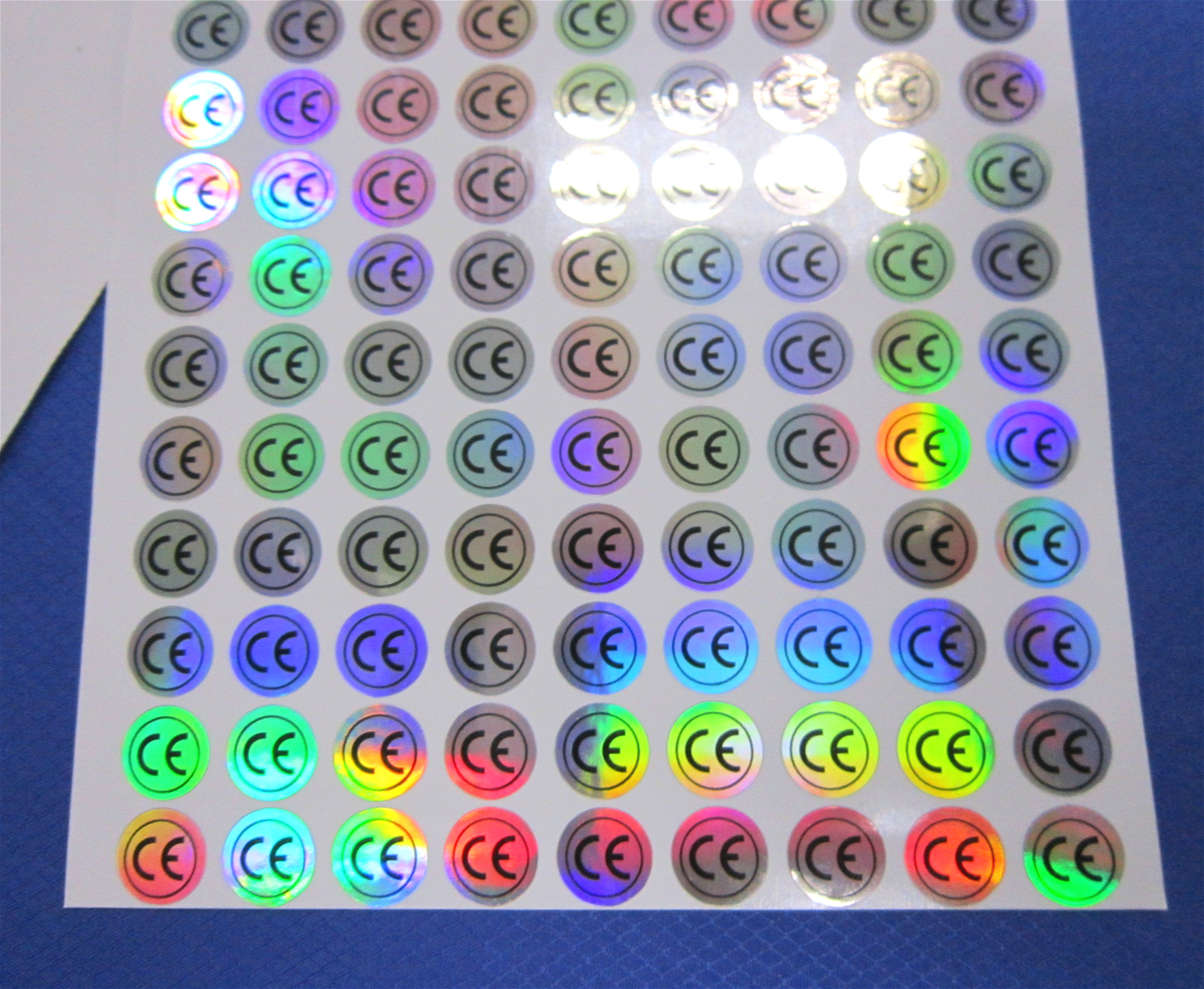 Ce ce safety certification by laser marking laser sticker stickers round stickers color laser 10mm