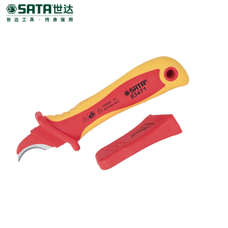 Cedel sata hardware tools curved blade incise vde insulation voltage electrician knife cable stripping knife 93471