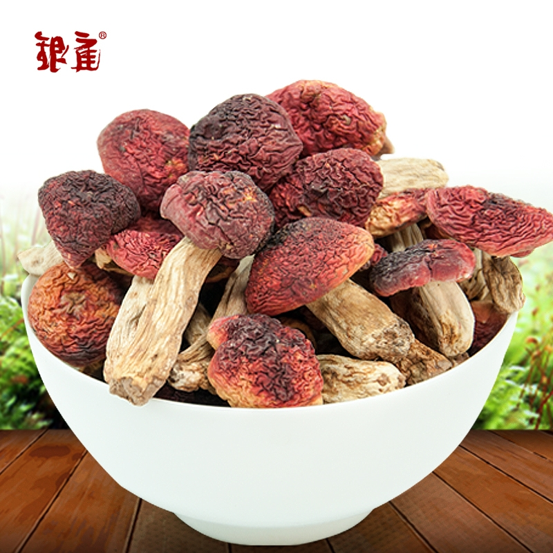 Chamber of silver red mushroom red mushroom 200 grams of wuyi mountain in fujian rare wild mushroom specialty dry north and south