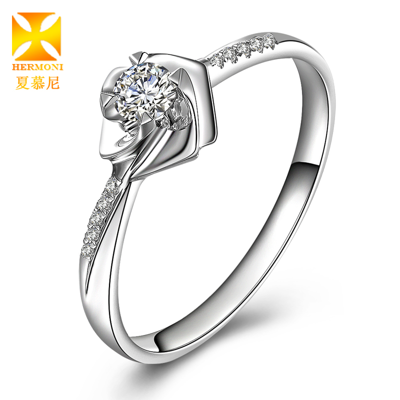 Chamonix 5-15 k white gold ring on the ring pt950 platinum diamond ring inlaid group women marry