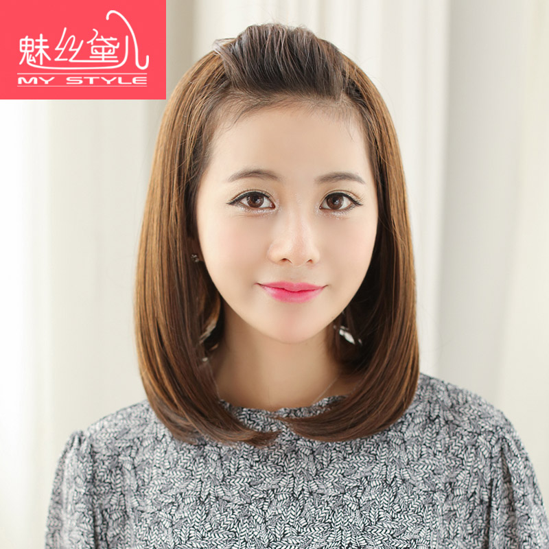 Charm丝黛children fresh buckle korean fashion classic long section of straight hair half wigs straight hair half wigs hair