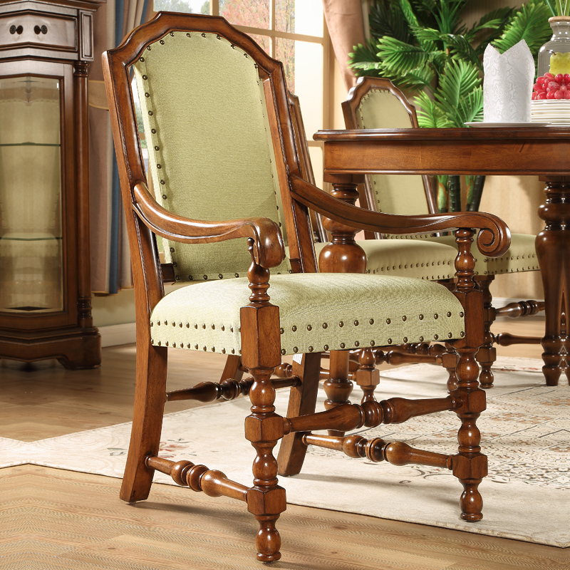 Charm delineators american wood dining chair simple european antique american country fabric chairs dining tables and chairs leisure chairs