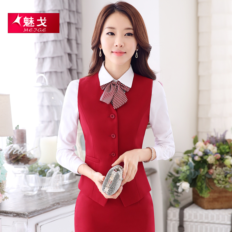 Charm ge korean women wear skirt suits career skirt uniforms hotel uniforms vest vest vest wild section