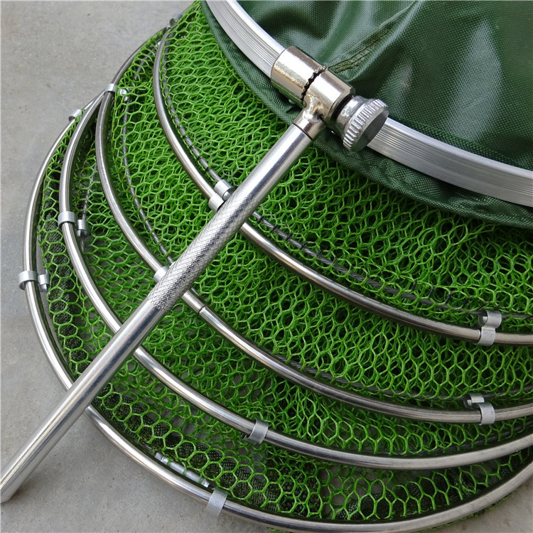 Cheap authentic athletic fish care stainless steel double ring coating anti hanging bottom wicking anti jump nets afcd fish farmers fish Wangdou