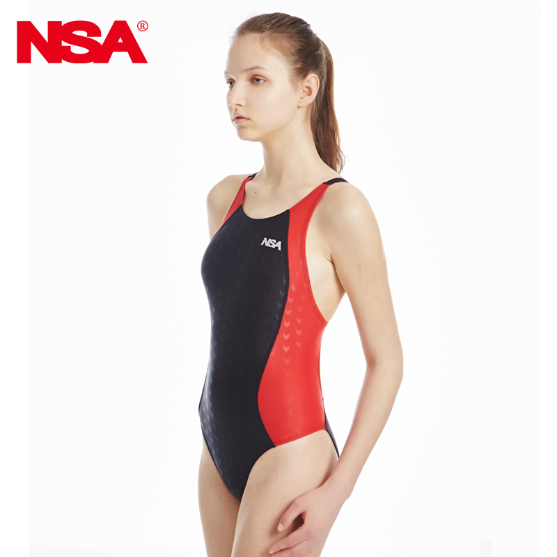 169eb629106c5 Get Quotations · Cheap authentic nsa sharkskin swimsuit female siamese  triangle swimsuit cover belly slim was thin conservative swimwear